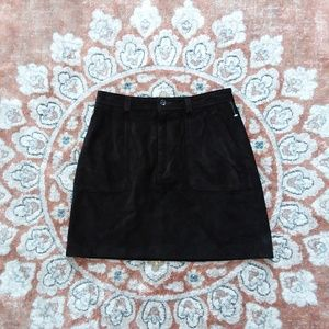 Banana Republic chocolate suede leather skirt